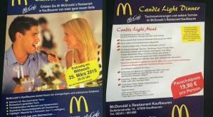 McDonald's Candle Light Dinner